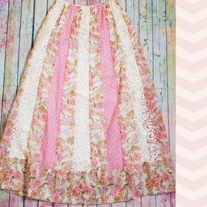 Vintage Boho Maxi Skirt